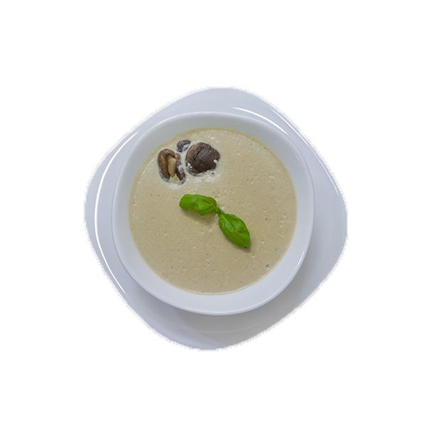 Крем-суп из баклажанов с шампиньонами