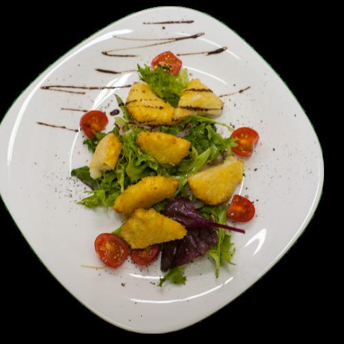 "Салат из жареного ""Сулугуни"" с томатами"